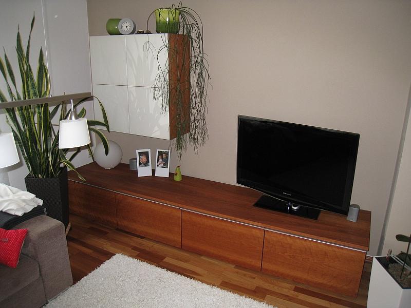kirschbaum tv mobel ... Lowboard in Kirschbaum mit Hängeschrank in cremefarbenem Glas. TV- Möbel  ...